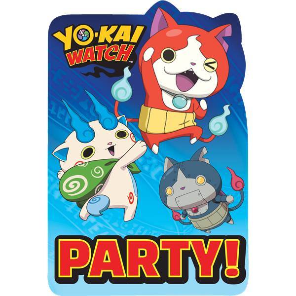 Convites Yo-Kai Watch