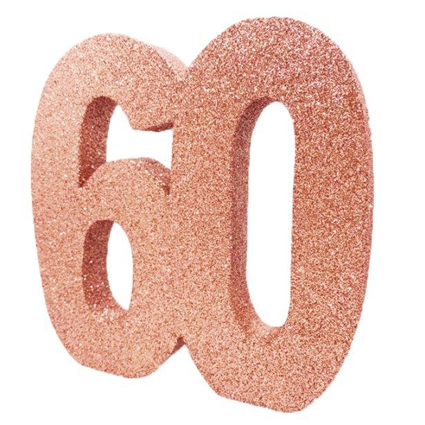 Decoração 60 Glitter Rose Gold