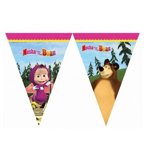 Bandeirolas Masha e Urso