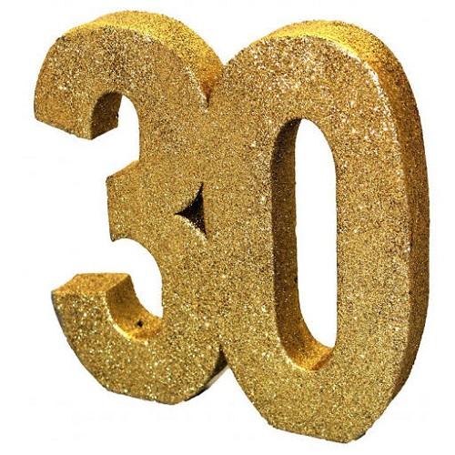 Decoração 30 Glitter Dourado