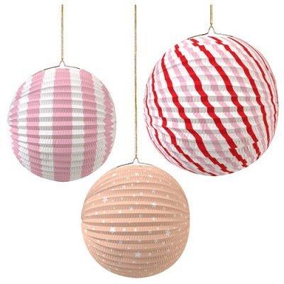 Bolas Papel Coloridas Rosa e Salmão