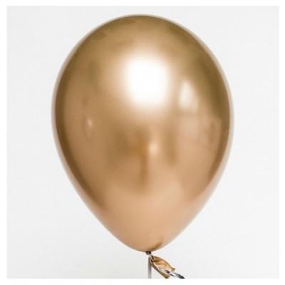 Balão Cromado Ouro 30cm