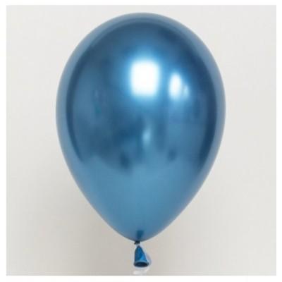 Balão Cromado Azul 30cm