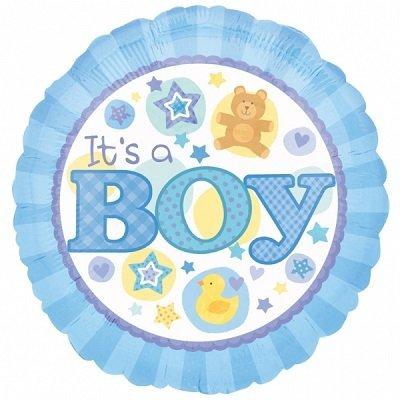 Bebé Menino Balão Médio
