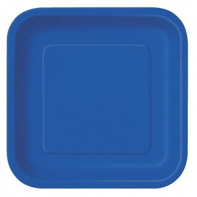 Pratos Azul Escuro Quadrados