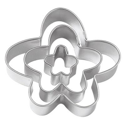 Conjunto 3 Cortadores - Flor Divertida