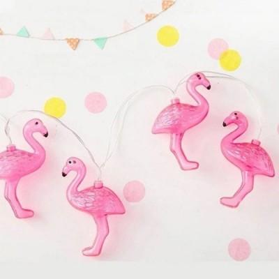 Grinalda de Luzes Flamingo