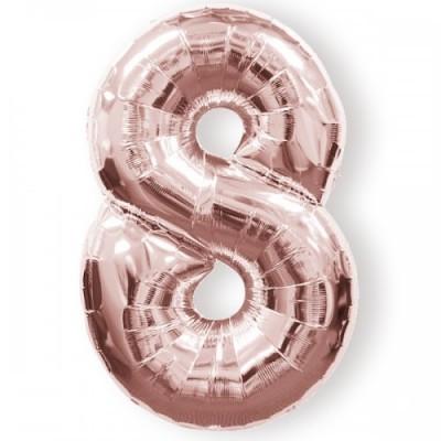 Balão Gigante 8 Rosa Gold