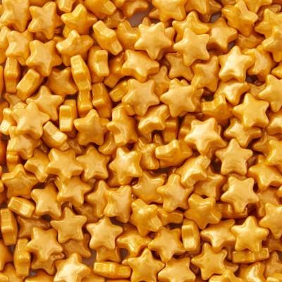Confetis Açúcar Estrelas Douradas