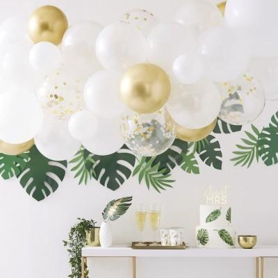 Arco Balões Branco e Dourado