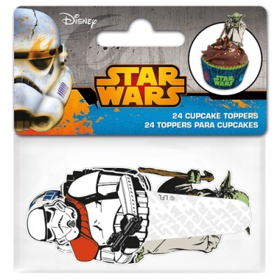 Conj. 24 Toppers Star Wars