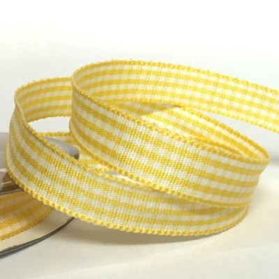 Fita Amarelo Xadrez 10mm