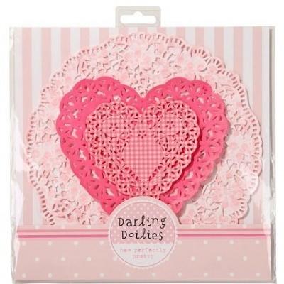 Naperons Coração Rosa