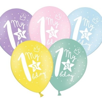 Conj. 6 Balões My 1st Bday