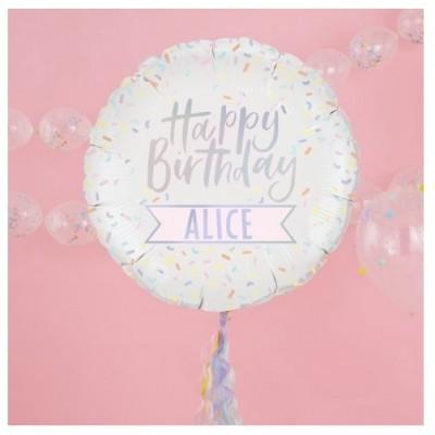 Balão Personalizável Happy Birthday