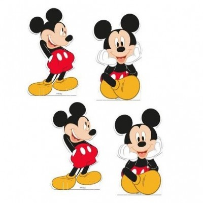 Conj. 4 Mini Figuras Mickey