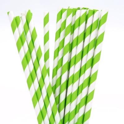 Palhinhas Verde Lima Riscas -  Conj. 10