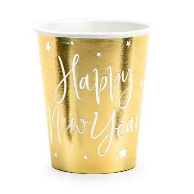 Copos Dourado Happy New Year