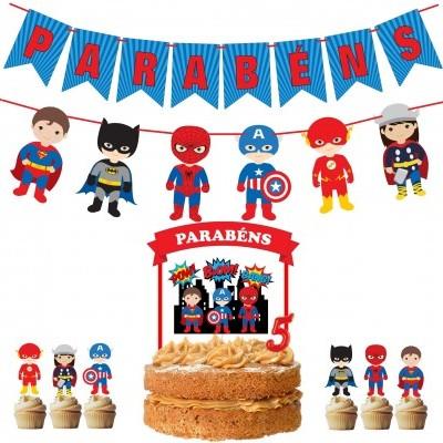 Kit Festa Super Heróis
