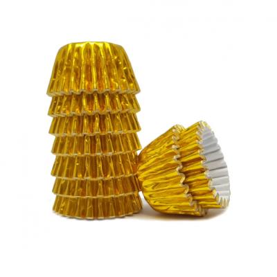 Conj. 100 Mini Forminhas Laminadas Dourado