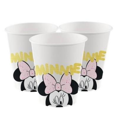 Copos Minnie Rosa Pastel