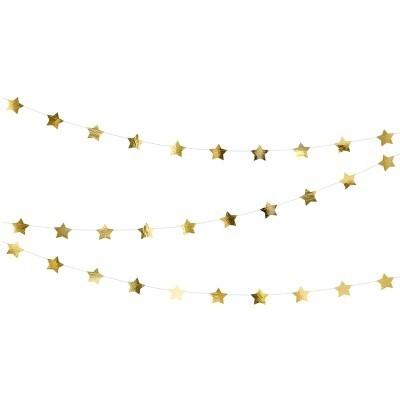 Grinalda Estrelas Dourado