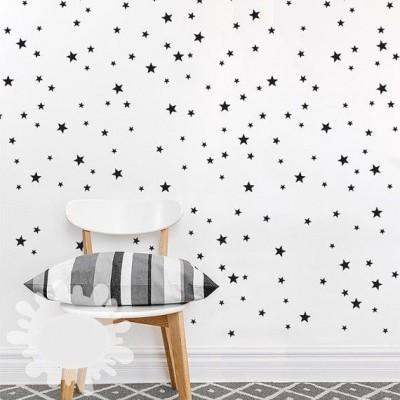 Autocolantes Parede Estrelas Preto