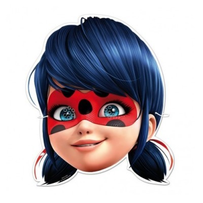 Conj. 6 Máscaras Ladybug