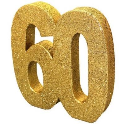 Decoração 60 Glitter Dourado