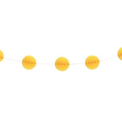 Grinalda Mini Bolas Amarelo