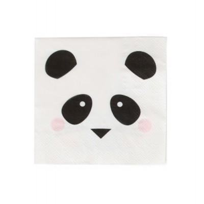 Conj. 20 Guardanapos Panda Pequenos