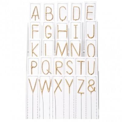 Velas Sparkles Letras Douradas