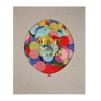 Kit Balões Transparentes Confetis Coloridos