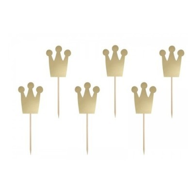 Toppers Coroas Douradas