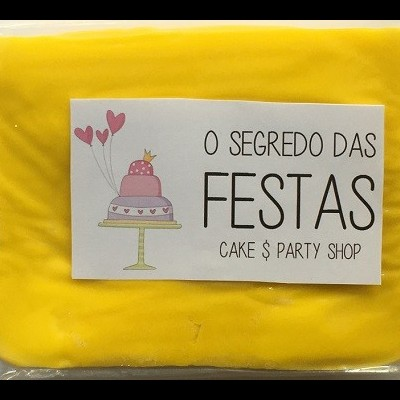 Pasta de Açúcar Amarela