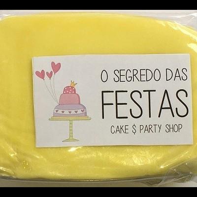 Pasta de Açúcar Amarela Pastel