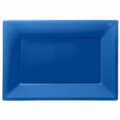 Travessas Azul Escuro Plástico