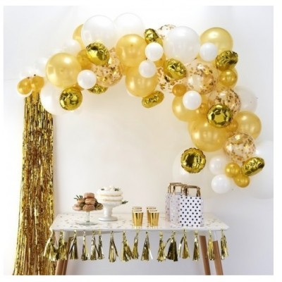 Arco Balões Dourado