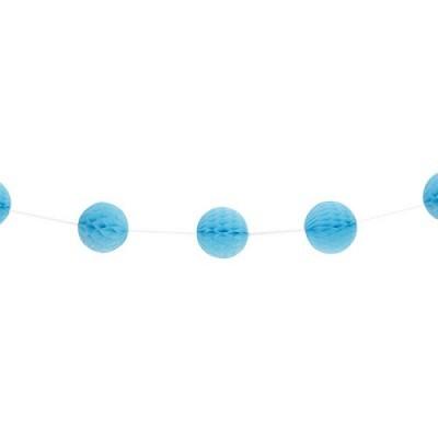 Grinalda Mini Bolas Azul Claro