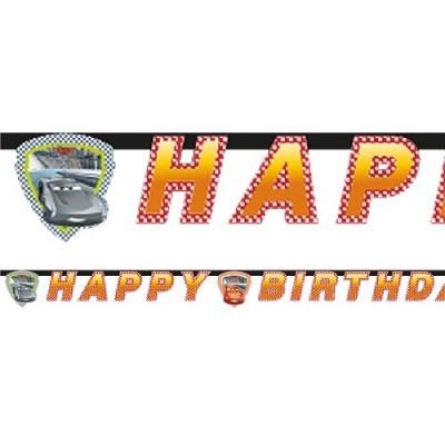 Grinalda Happy Birthday Cars Faísca