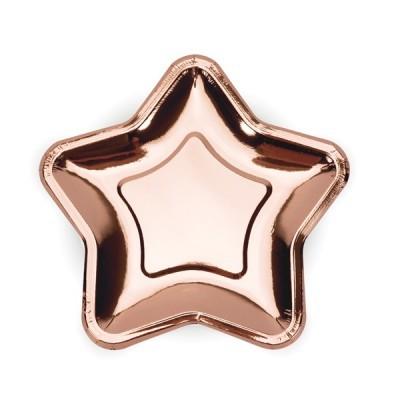 Pratos Estrela Rosegold Pequenos