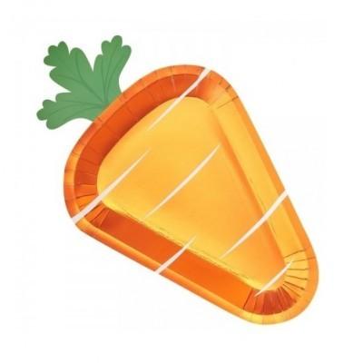 Conj. 8 Pratos Cenoura