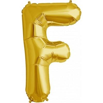Balão F Dourado