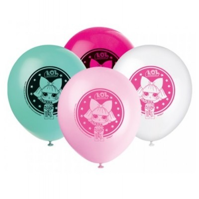 Conj. 8 Balões LOL Surprise