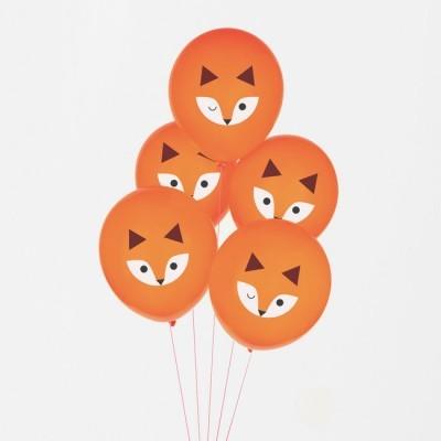 Conj. 5 Balões Raposa
