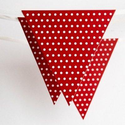 Bandeirolas Vermelho Bolinhas