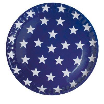 Pratos Azul Escuro Estrelas