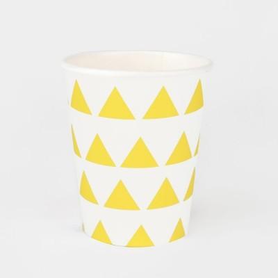 Copos Amarelo Triângulos