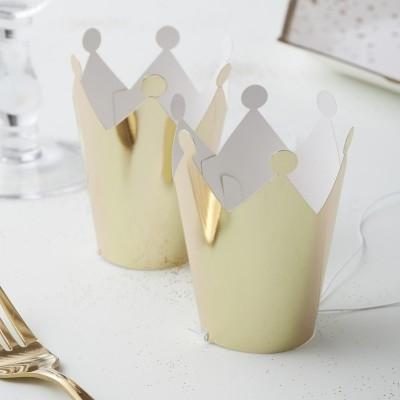 Conj. 5 Coroas Mini Douradas