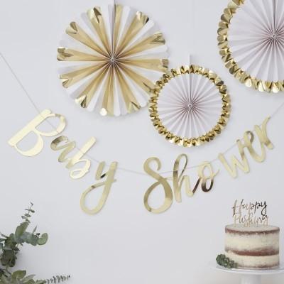 Grinalda Baby Shower Dourado